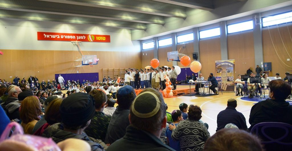 Choir performs at Hanukkah performance for grandparents in Gush Etzion Efrat