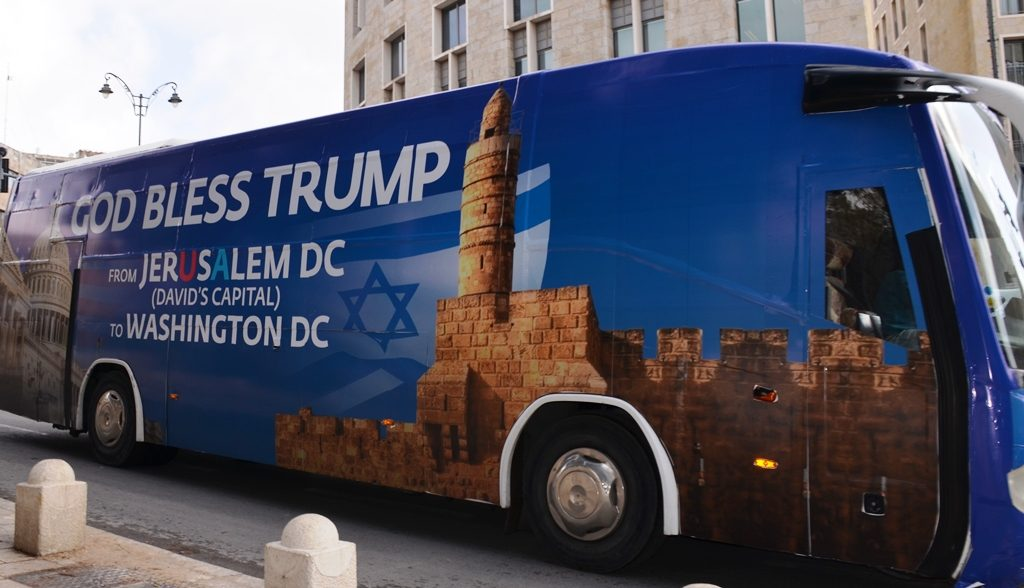 Trump bus in Jerusalem