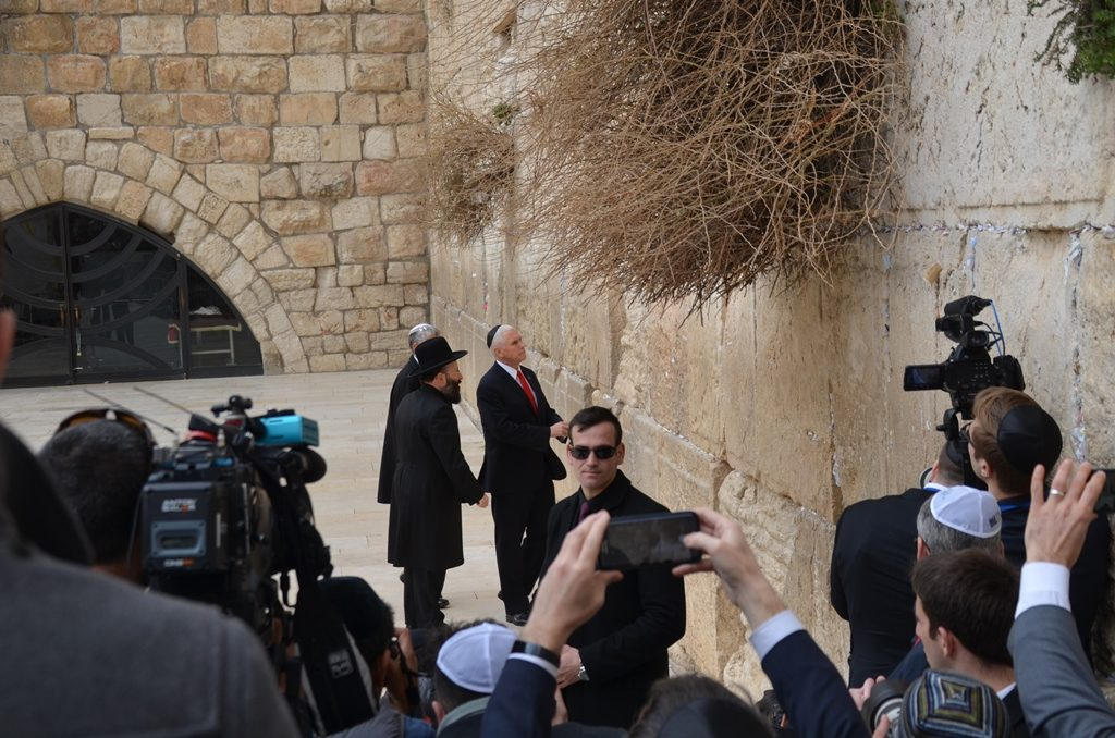 VP Pence Jerusalem Western Wall