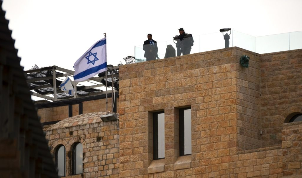 Pence visit to Western Wall security on roof tops