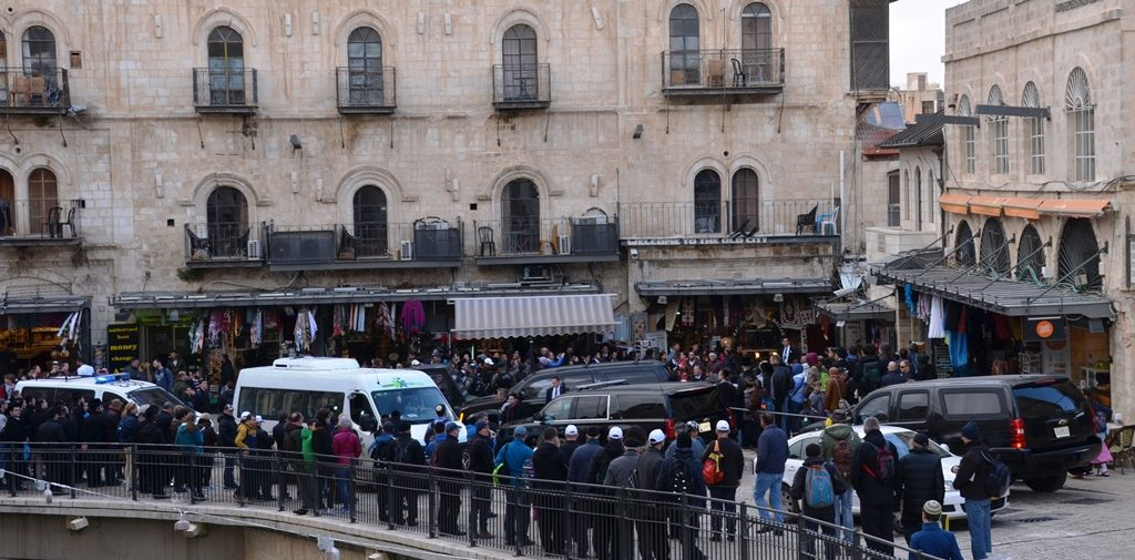 Karen Pence shops in Arab shuk near Jaffa Gate crowd gathers until she leaves