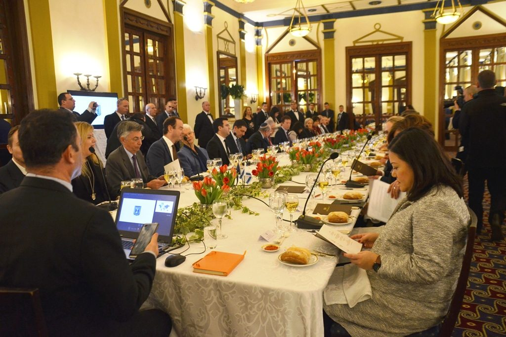 King David Hotel lunch for NATO Ambassador countries in Jerusalem Israel