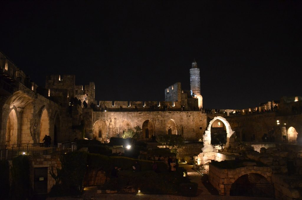 Tower of David for Shaon Horef Jerusalem Monday night event in Februrary