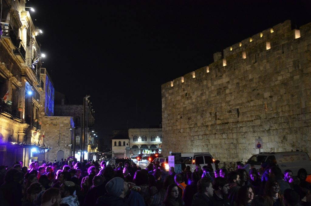 Music and dancing at Jaffa Gate for Winter Noise event
