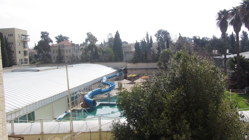 Jerusalem Israel swimming pool destroyed to make room for new apartments