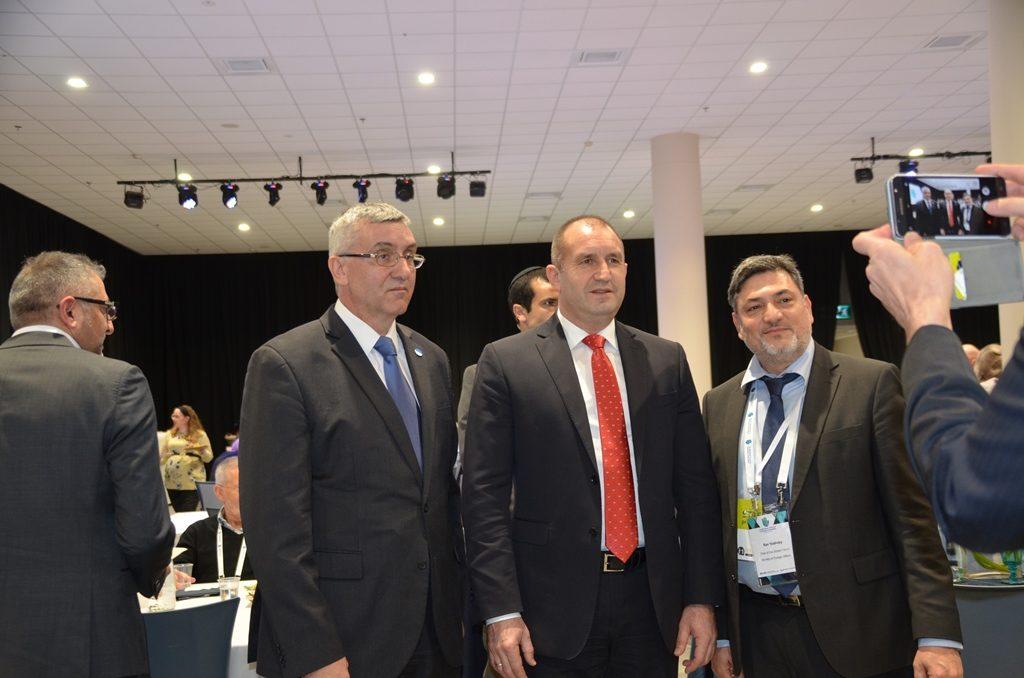 Bulgarian Ambassador, President Rumen Radev, and Ron Yaakoby