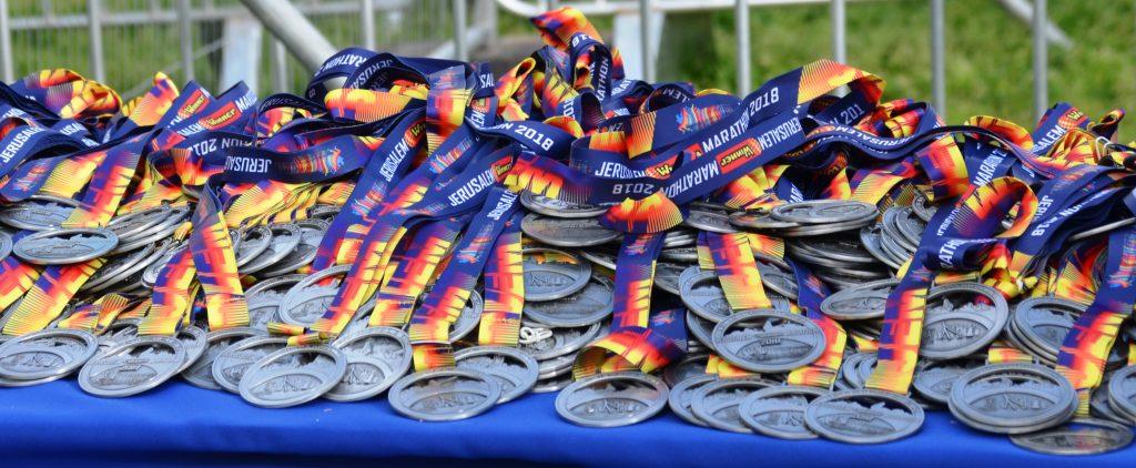 Jerusalem Marathon medals 2018