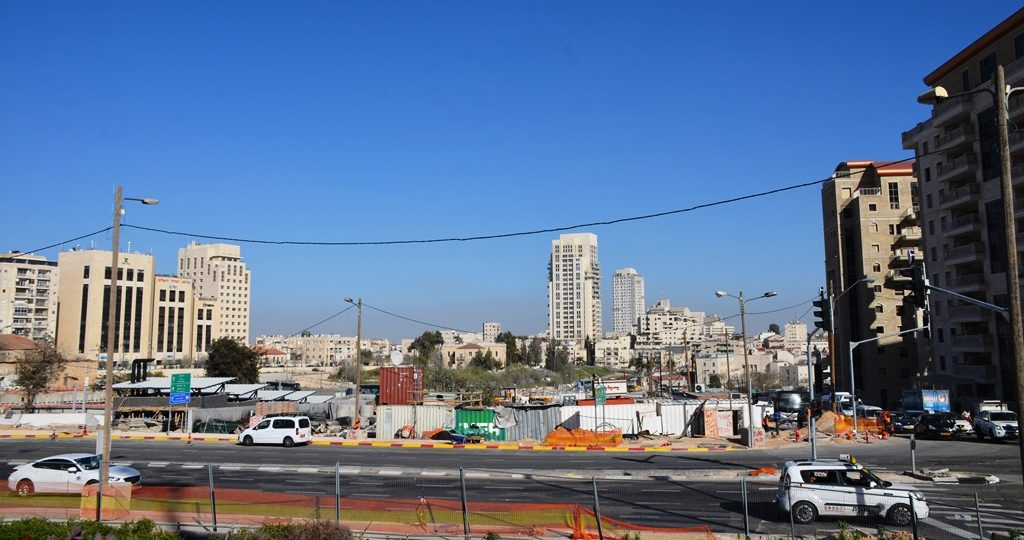 Jerusalem new center under construction