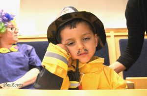 Purim costume little fireman Jerusalem Israel