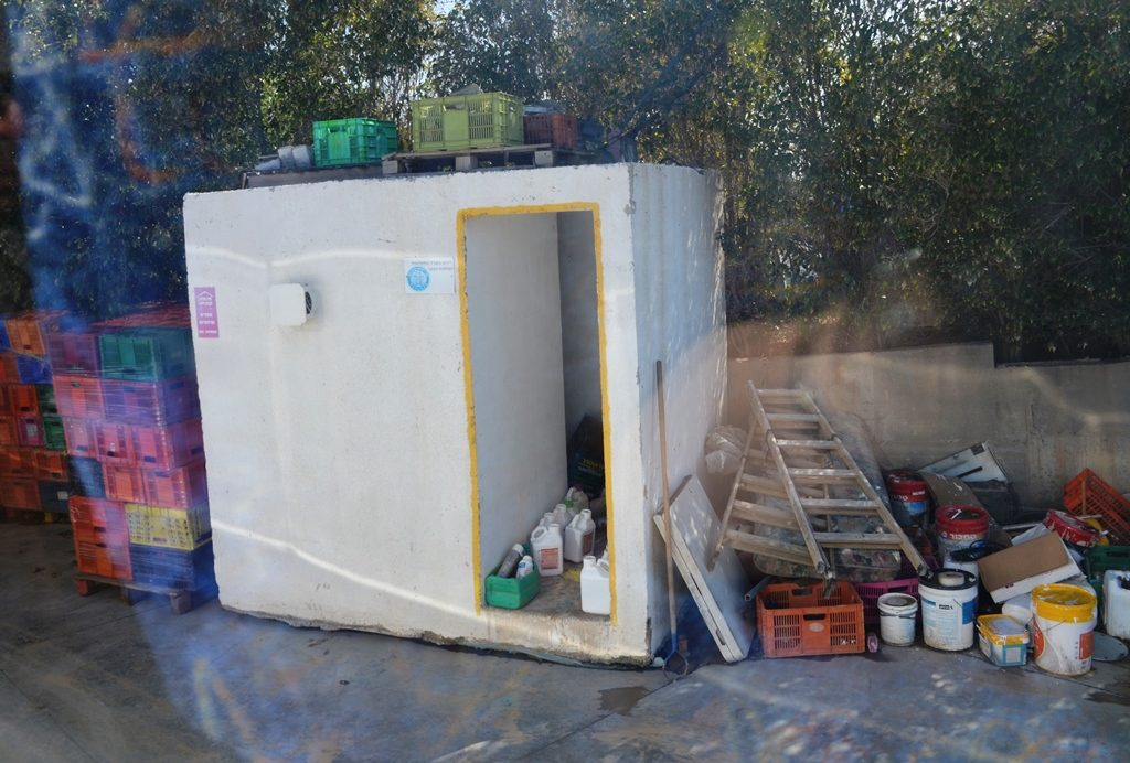 Bomb shelter on farmers for safety from Gaza missiles in southern Israel