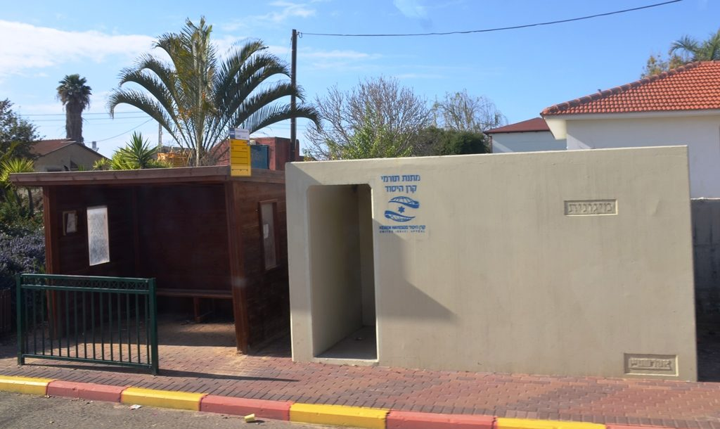 Southern Israel bomb shelter next to bus stop