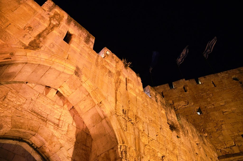 Night at Tower of David Jerusalem, Israel