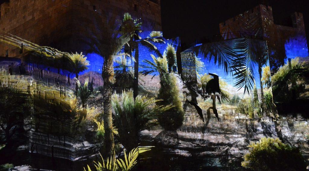Nit laser and sound show Tower of David Jerusalem Israel