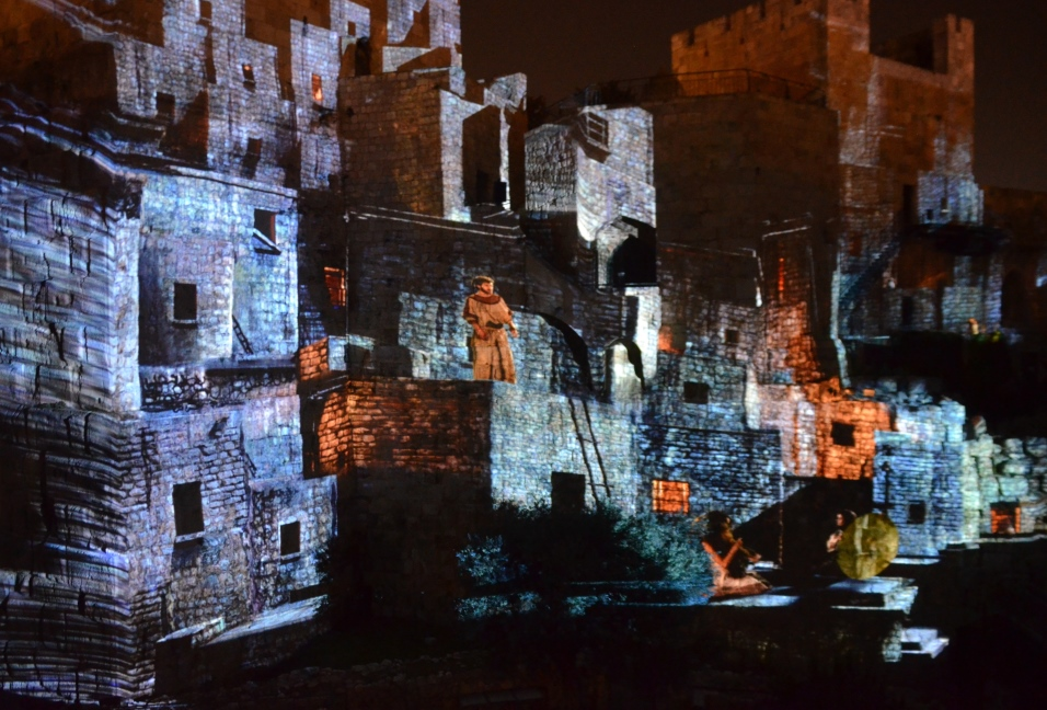 Tower of David light show KING DAVID Jerusalem Israel