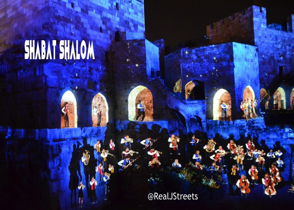 Tower of David KING DAVID finale scene for Shabat shalom poster