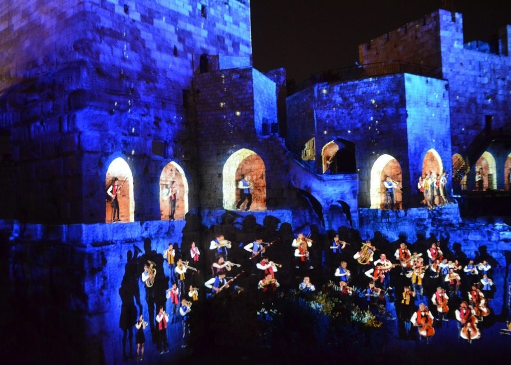 Musical ending for KING DAVID at Tower of David Jerusalem Israel