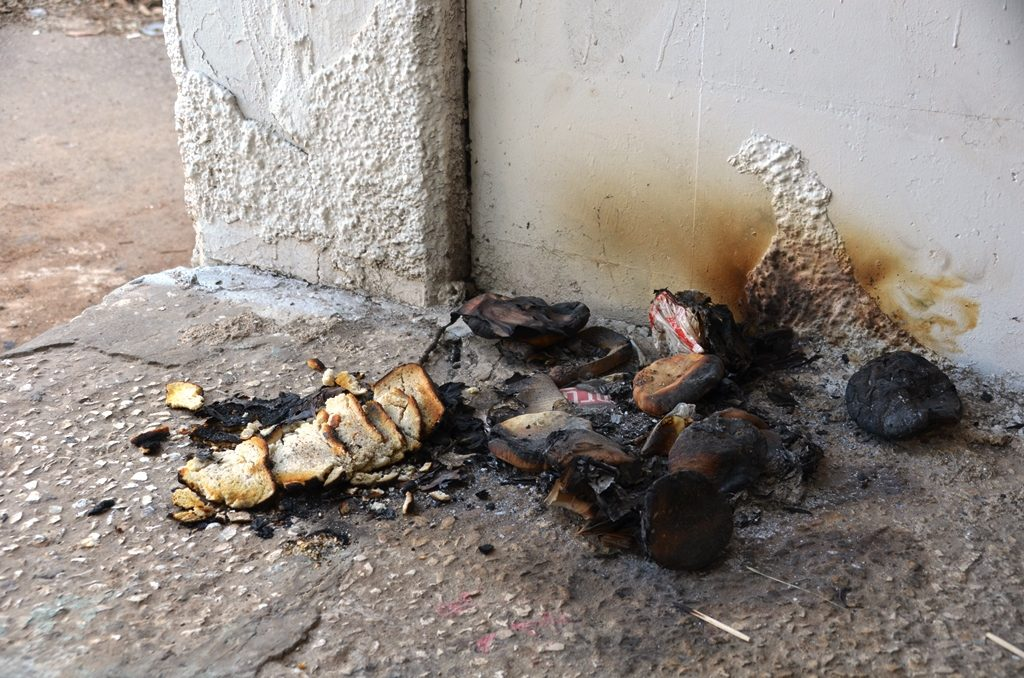 Burnt chometz in Yerushalayim