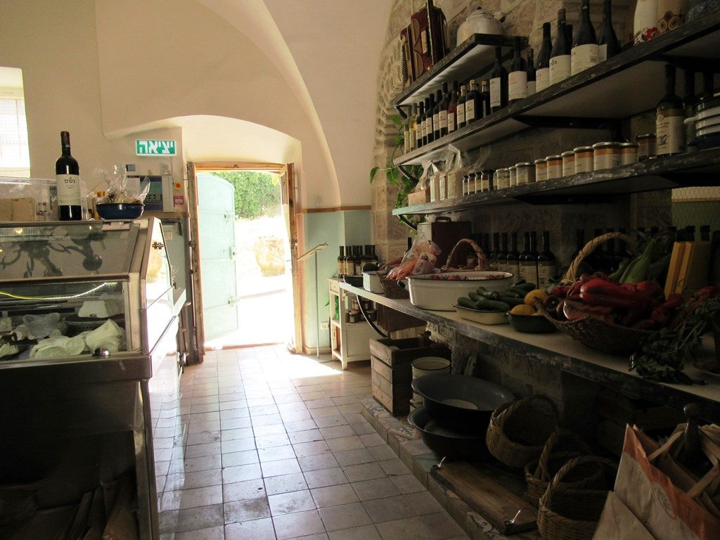 Hansen House now has small natural food store as well as restaurant. Jerusalem Israel