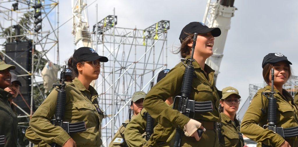 Har Herzl Yom Ha'atzmaut rehearsal female soldiers