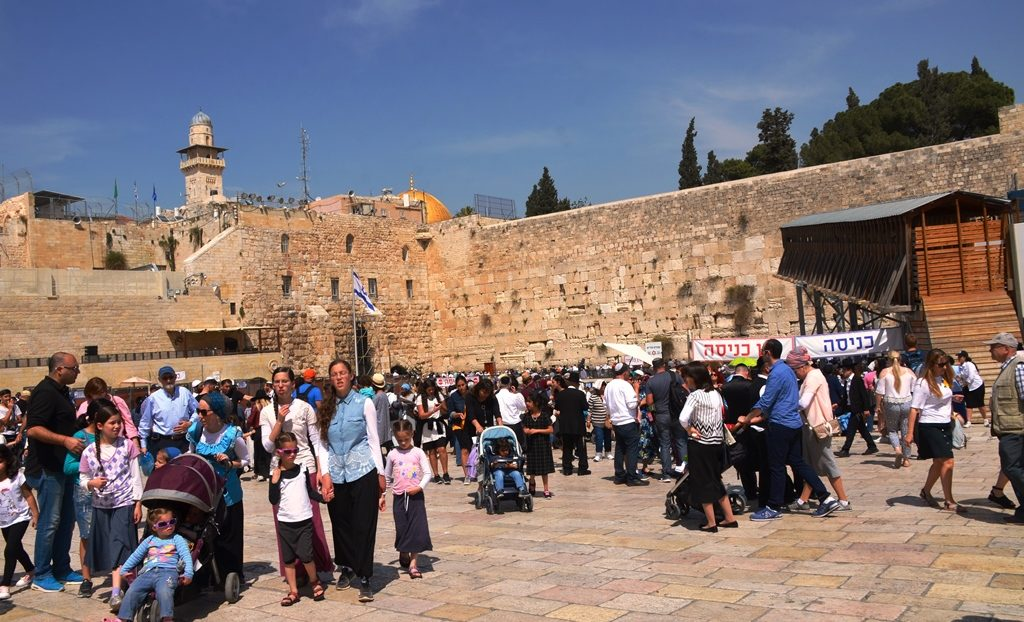Afternoon of Chol HaMoed Pesach at Kotel