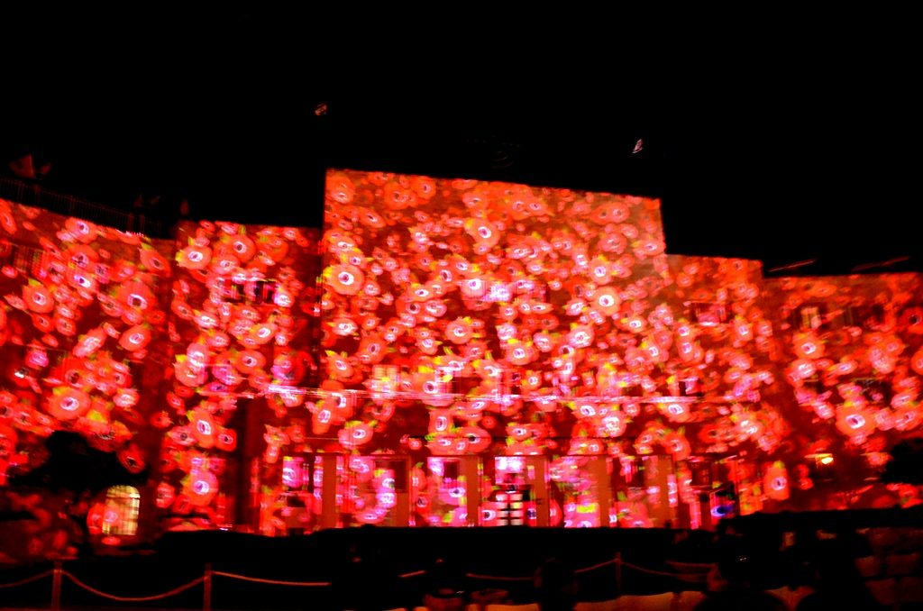 Light projection on Jewish Agency by JNF