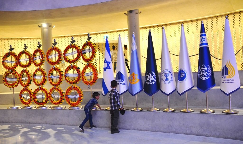 Inside new military memorial at Har Herzl on Remembrance Day