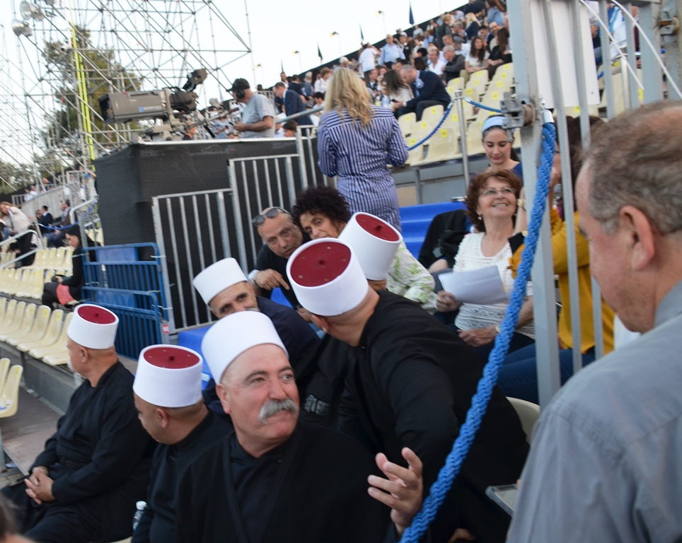 Yom Haatzmaut Druze leaders at Har Herzl