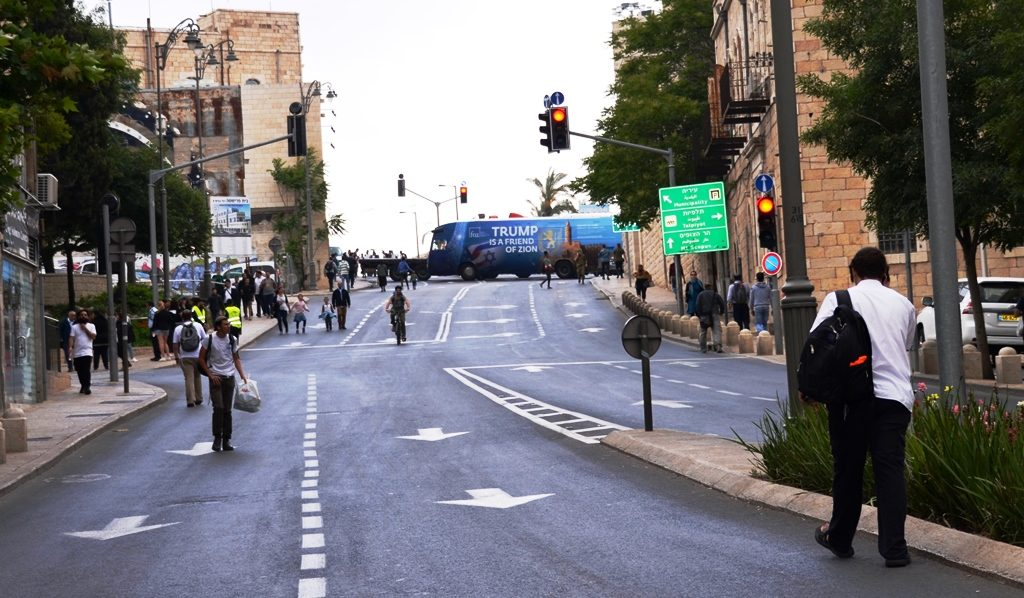 Jerusalem Day street closings for Flag Parade