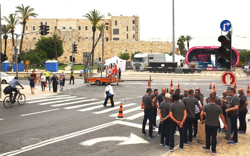 Scene near Old City Jerusalem Giro d'Italia
