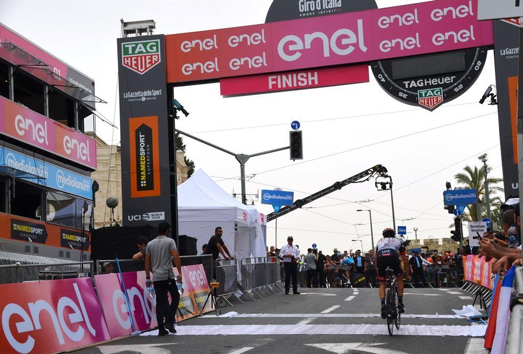 Jerusalem Giro d'Italia finish line