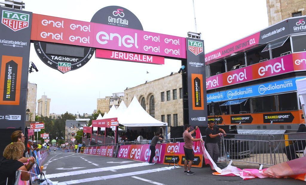Finish line Jerusalem Giro d'Italia