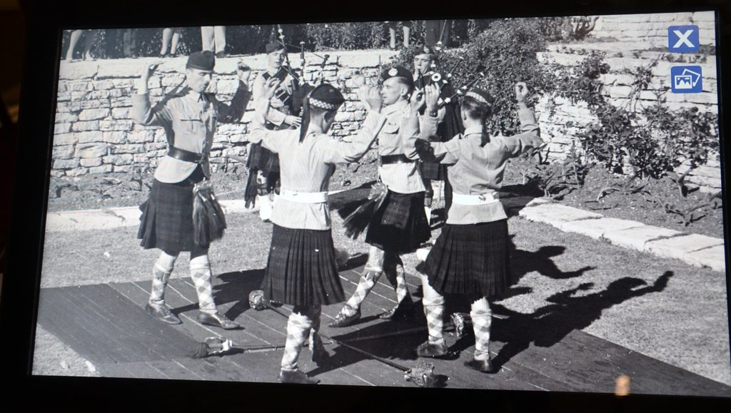 Tower of David photo men dancing in kilts London in Jerusalem
