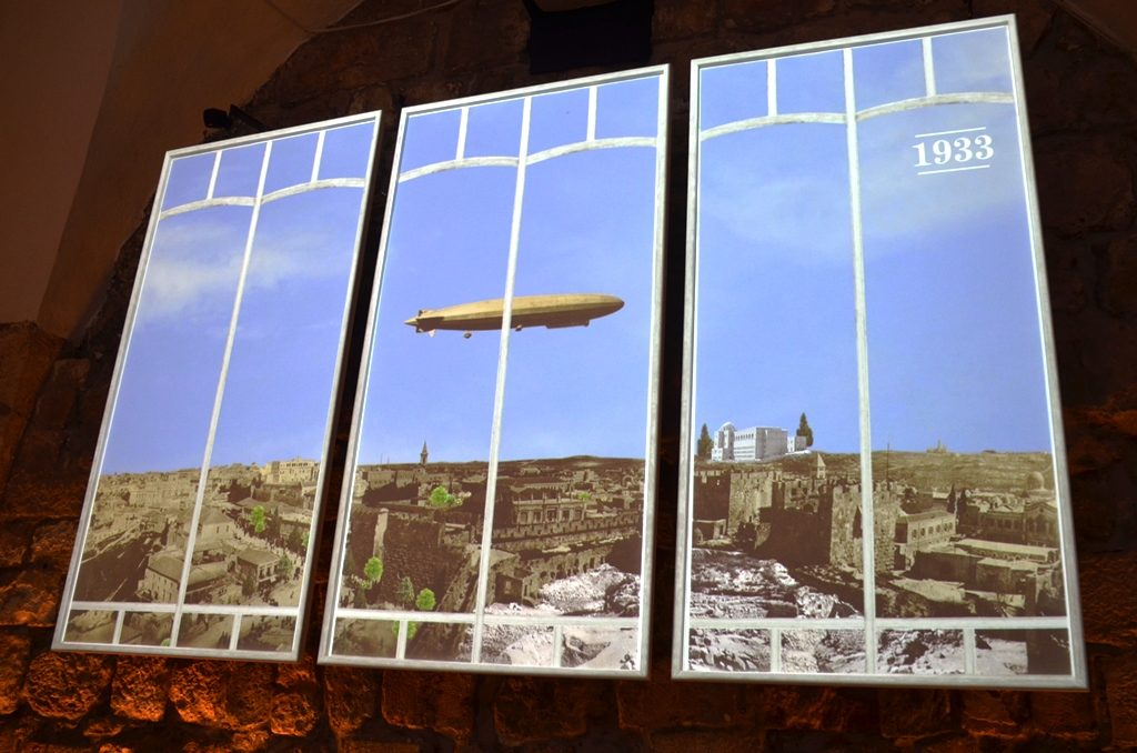 Tower of David Museum photo of blimp in Jerusalem