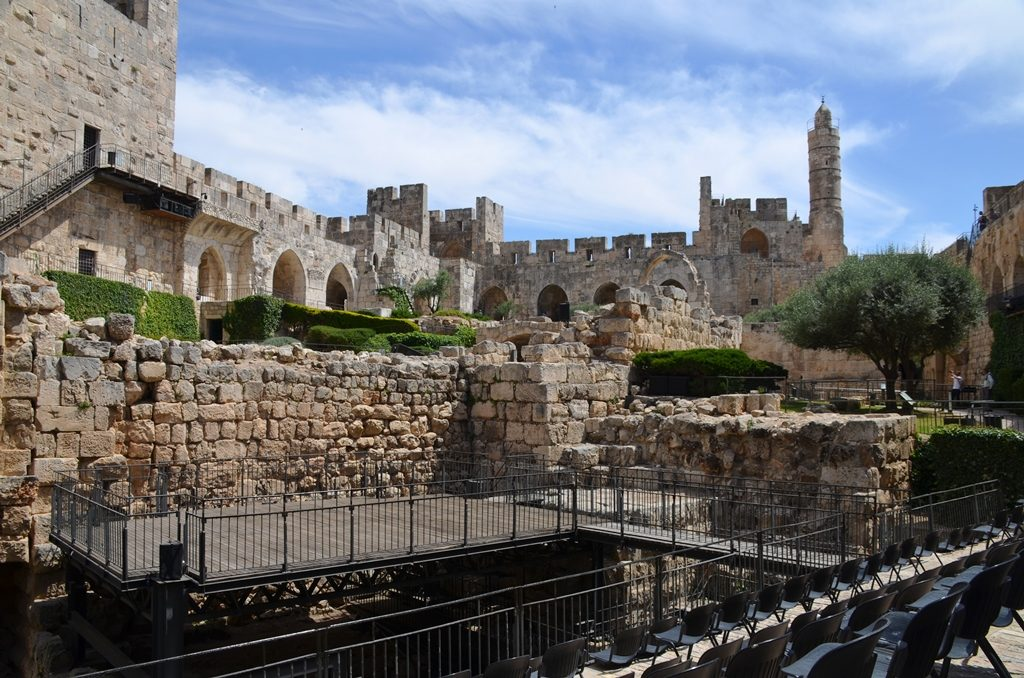 Tower of David set for performance