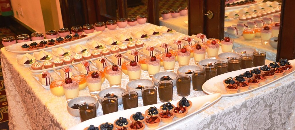 King David Hotel dessert table for Guatemala event