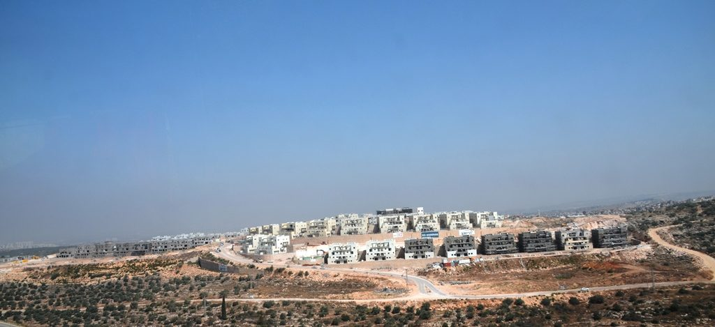 Shomron trip new construction of Leshem