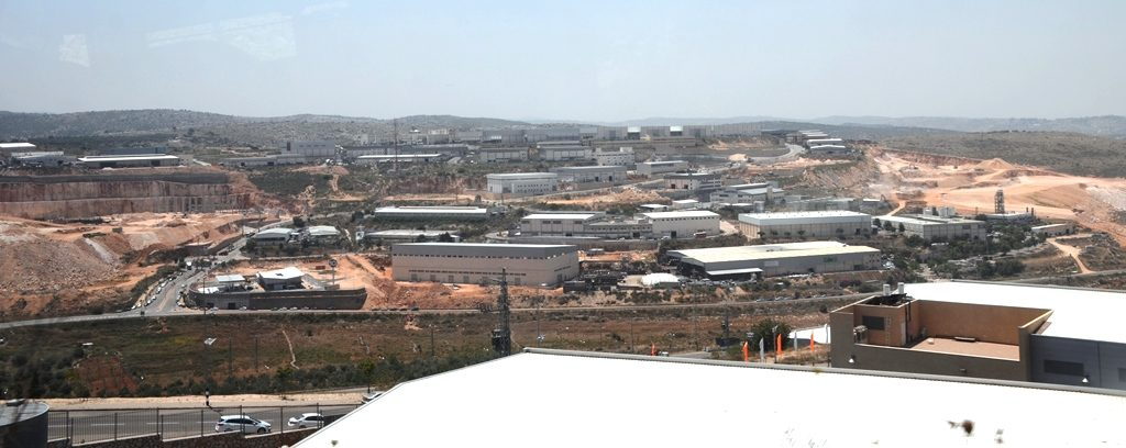 Industrial park in Shomron, Israel over green line