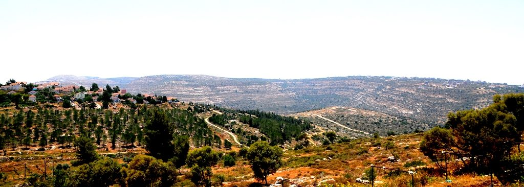 Land in Shomron seen from Itamar