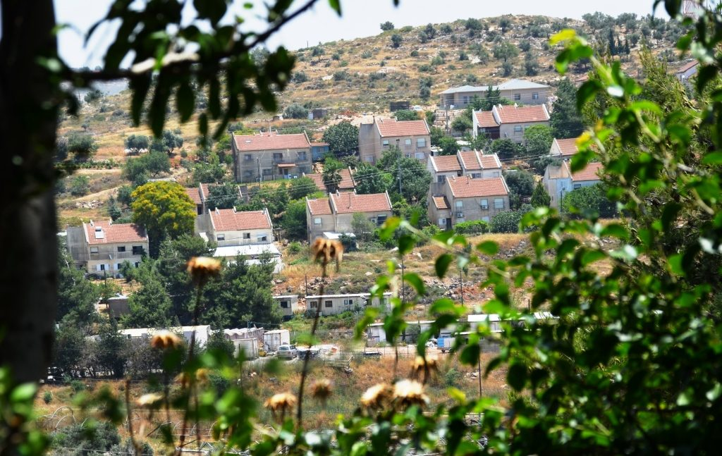 Shomron, Itamar houses from afar.