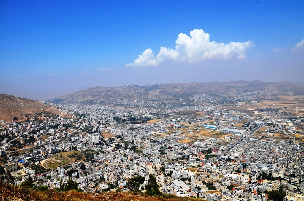 View of Nablus from lookout above Shechem