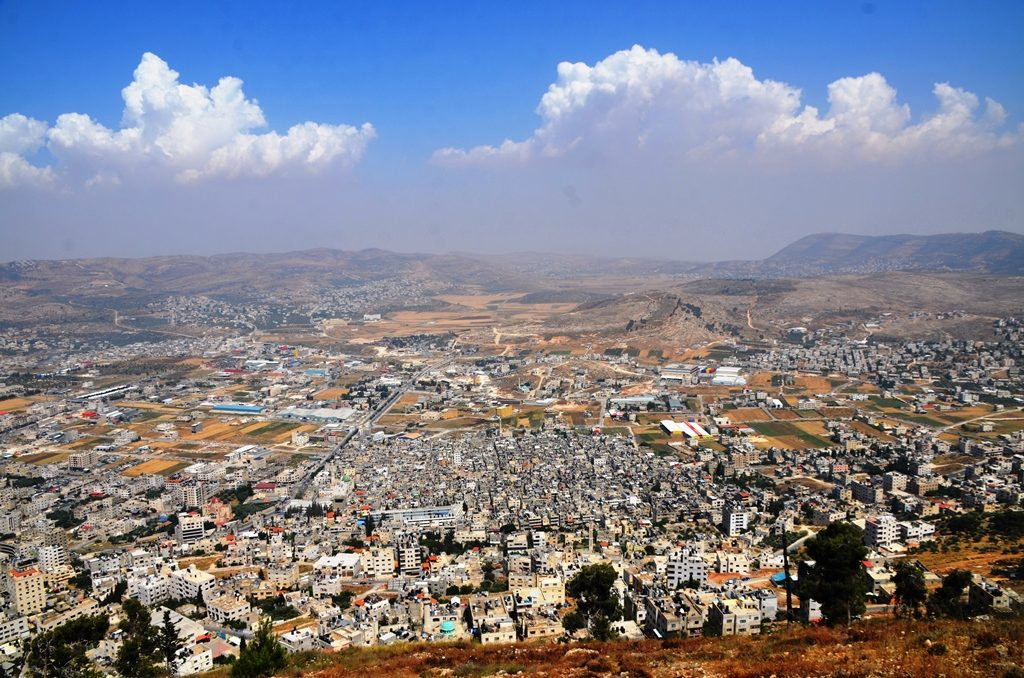 View of Nablus from lookout above, closest Israeli access to Josef's Tomb
