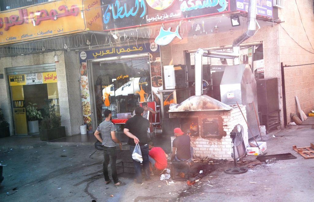 Oven on street preparing food for iftr Ramadan meal