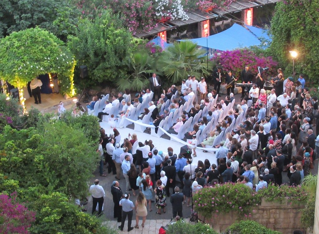 Wedding in Jerusalem, Israel evening at Mount Zion Hotel