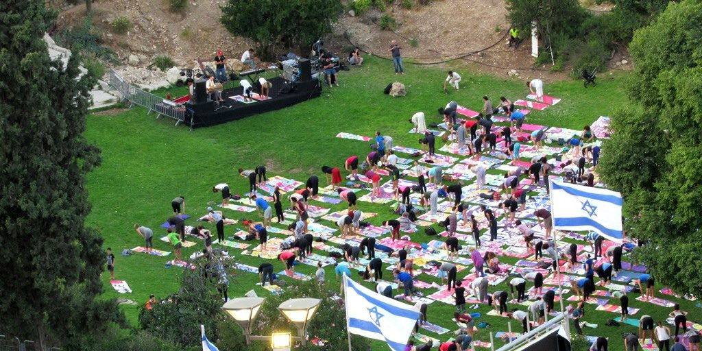 Jerusalem Israel International Yoga Day Big Dream in Hinon Valley