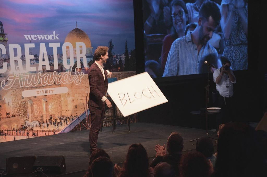 Mentalist Lior Suchard at Creator Awards in Jerusalem Israel