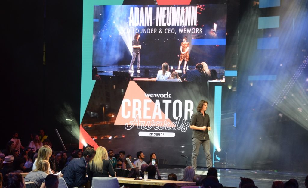 We Work CEO Adam Neumann in Jerusalem Israel for Creator Award