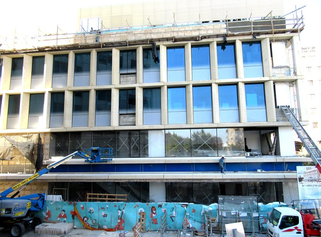 Jerusalem WeWork site under construction