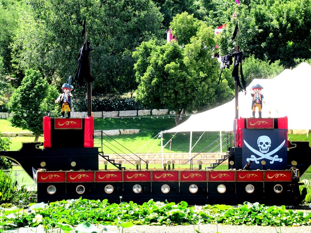 Summer 2018 pirate ship in Jerusalem Botanical Gardens
