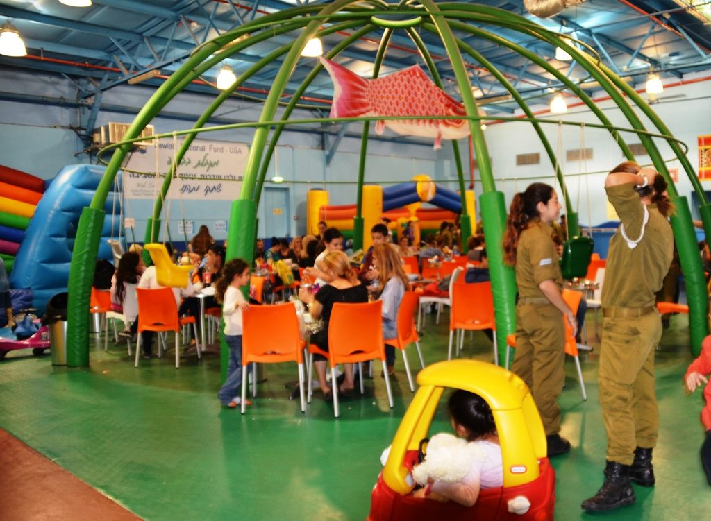Sderot JNF playground built inside with bomb shelters