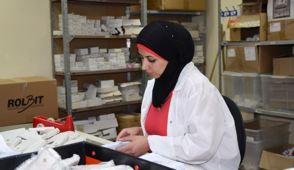 Arab woman working in Israeli business